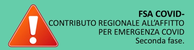CONTRIBUTO REGIONALE ALL'AFFITTO
