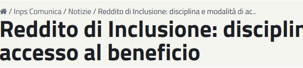 ReI : reddito di inclusione