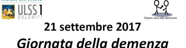 Giornata della demenza: 21 settembre 2017