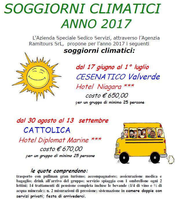 SOGGIORNI CLIMATICI 2017 | Sedico Servizi